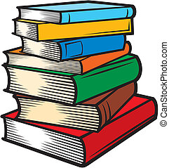 (books, stacked), előjegyez, kazal