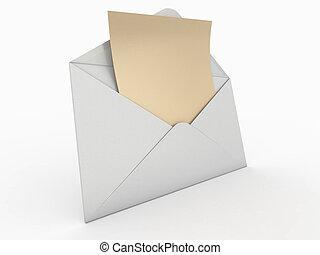 boríték, 3, letter., üres, mail.