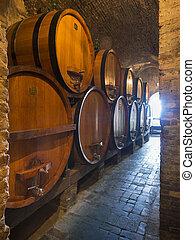 boripari üzem, hengerek, bor, tölgy, pince