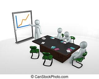 bot, kép, ábra presentation, gyűlés, asztal, 3