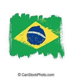 brazília, háttér., lobogó, fehér