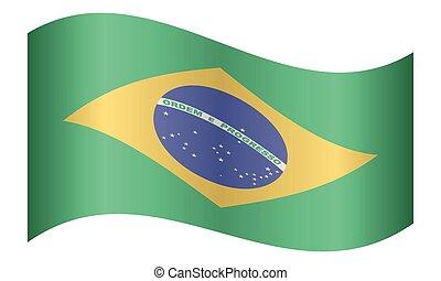 brazília, lenget lobogó, white háttér
