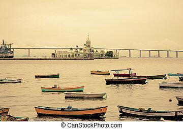 brazília, rio, ellen-, kikötő, janeiro