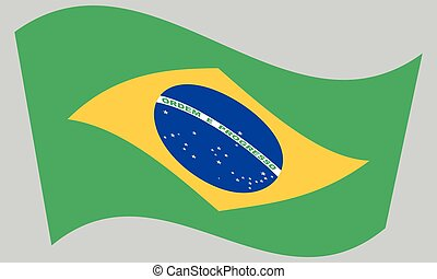 brazília, szürke, lobogó lenget, háttér