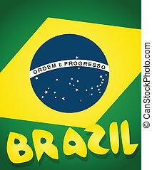 brazil lobogó, háttér