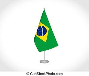 brazil lobogó, white háttér