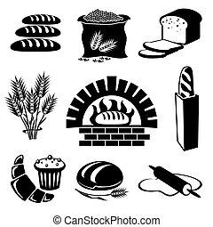 bread, ikonok
