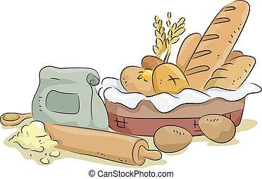 bread, kellék, süt hozzávaló