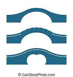 bridzs, állhatatos, körív, elszigetelt, vektor, háttér, ábra, fehér
