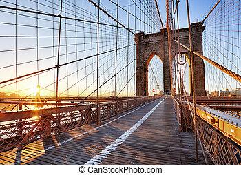 bridzs, új, city., brooklyn, york