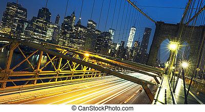 bridzs, brooklyn, éjszaka