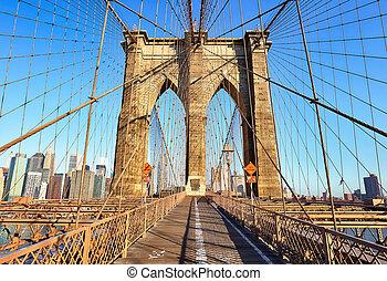 bridzs, brooklyn, city., york, új