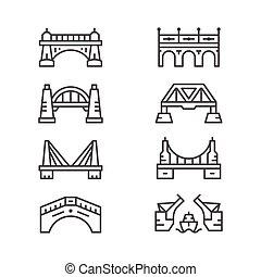 bridzs, egyenes, állhatatos, ikonok