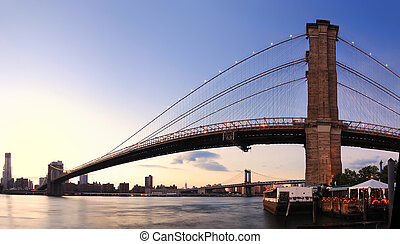 bridzs, város, brooklyn, york, új, manhattan