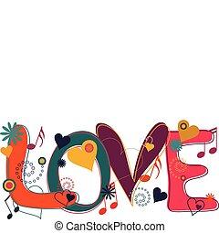 brights, szöveg, szeret, hippi
