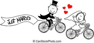 bringák, furcsa, lovász, menyasszony