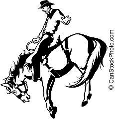 bronc rider, nyereg
