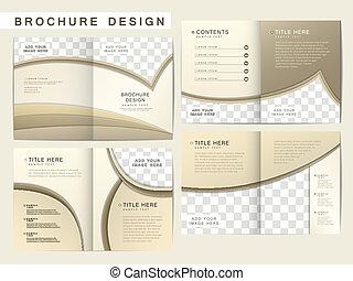 brosúra, alaprajz, vektor, tervezés, sablon