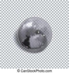 buborék, ábra, sphere., elszigetelt, gyakorlatias, vektor, monochrom, áttetsző