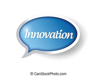 buborék, üzenet, tervezés, ábra, újítás