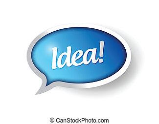 buborék, üzenet, tervezés, gondolat, ábra