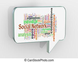 buborék, 3, beszéd, hálózat, társadalmi