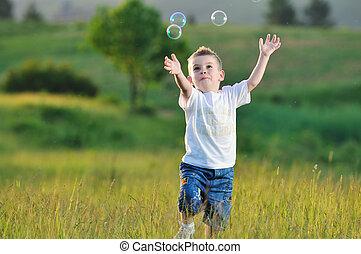 buborék, gyermek
