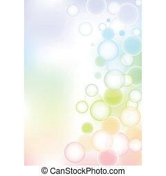 buborék, háttér