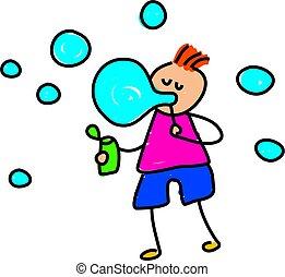 buborék, kölyök