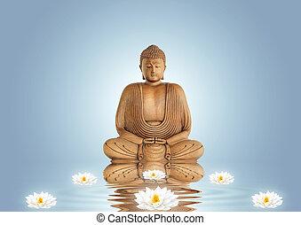 buddha, menstruáció, liliom