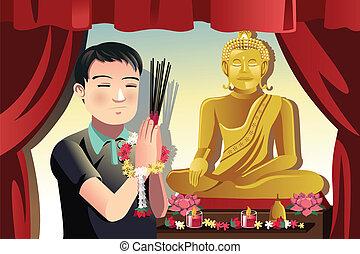 buddhista, ember