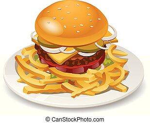 burger, daróc