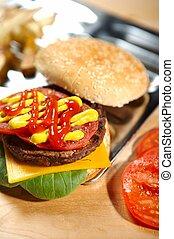 burger, fastfood, -
