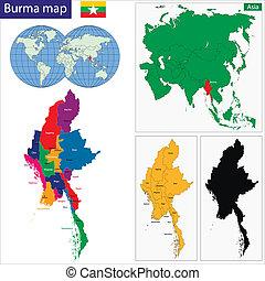 burma, térkép