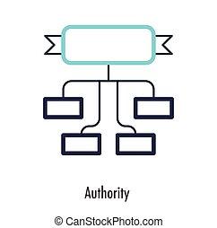 business., engedély, jelkép., vektor, tervezés, sovány megtölt, ikon