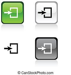 button., belépés