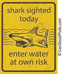 cápa, grunge, aláír, támad, vektor, eps8, figyelmeztetés