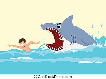 cápa, támad