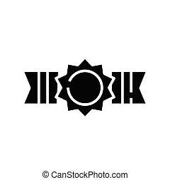 cégtábla., bajnok, fekete, lakás, ikon, ábra, jelkép, fogalom, vektor, öv, glyph