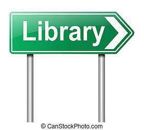 cégtábla., könyvtár