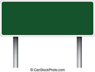 cégtábla., zöld, út, tiszta