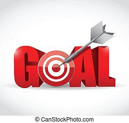 céltábla, tervezés, gól, ábra, hajít