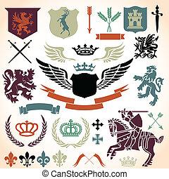 címertan, díszítés, állhatatos