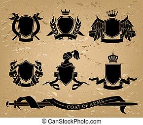 címertani, állhatatos, fekete, emblémák