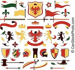 címertani, állhatatos, színezett