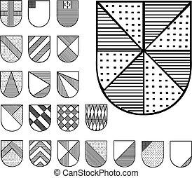 címertani, állhatatos, védőlemez