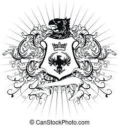 címertani, bőr, fegyver, 3, díszítés