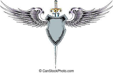 címertani, embléma, pajzs, klasszikus