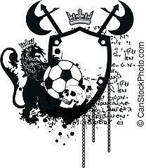 címertani, futball, crest9, oroszlán