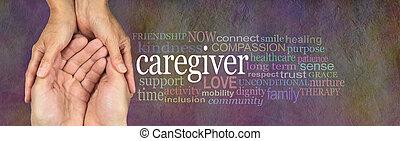 címke, szó, felhő, caregivers
